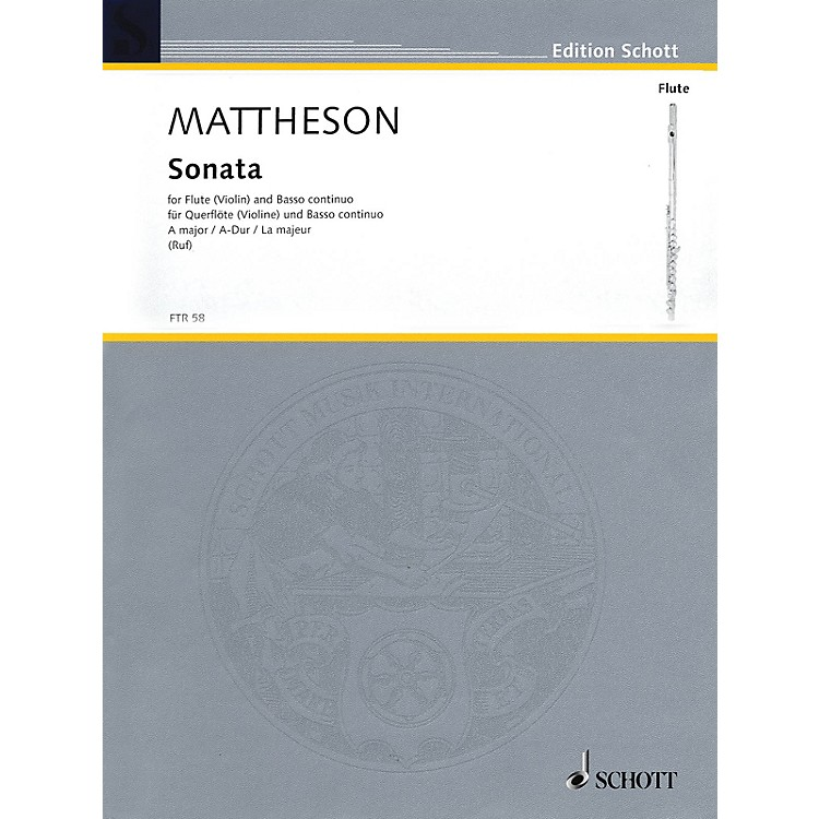 Hal LeonardSonata A Major For Flute (violin) And Basso Continuo Woodwind Series