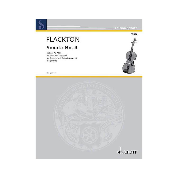 SchottSonata C Minor, Op. 2, No. 8 Schott Series Composed by William Flackton Arranged by Walter Bergmann