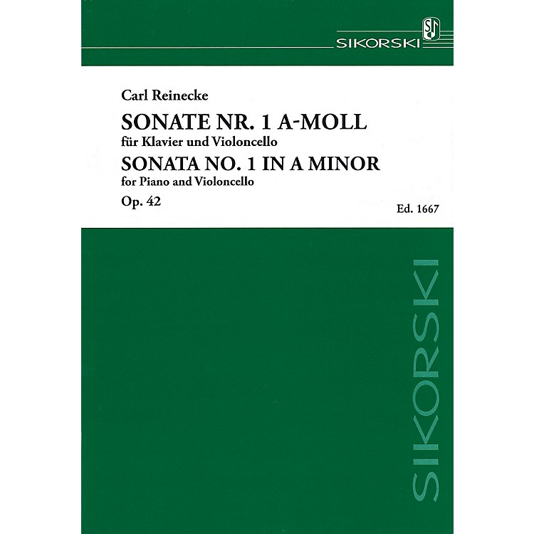 SikorskiSonata No. 1 in A minor, Op. 42 (Piano and Violoncello) String Series Softcover Composed by Carl Reinecke