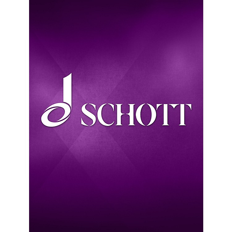 Schott Sonata No. 1 in F Major (from Der getreue Music-Meister) Schott Series