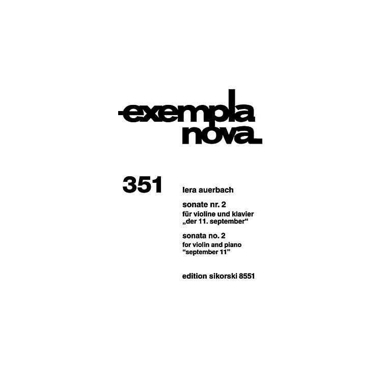 SikorskiSonata No. 2 for Violin and Piano (September 11) String Series