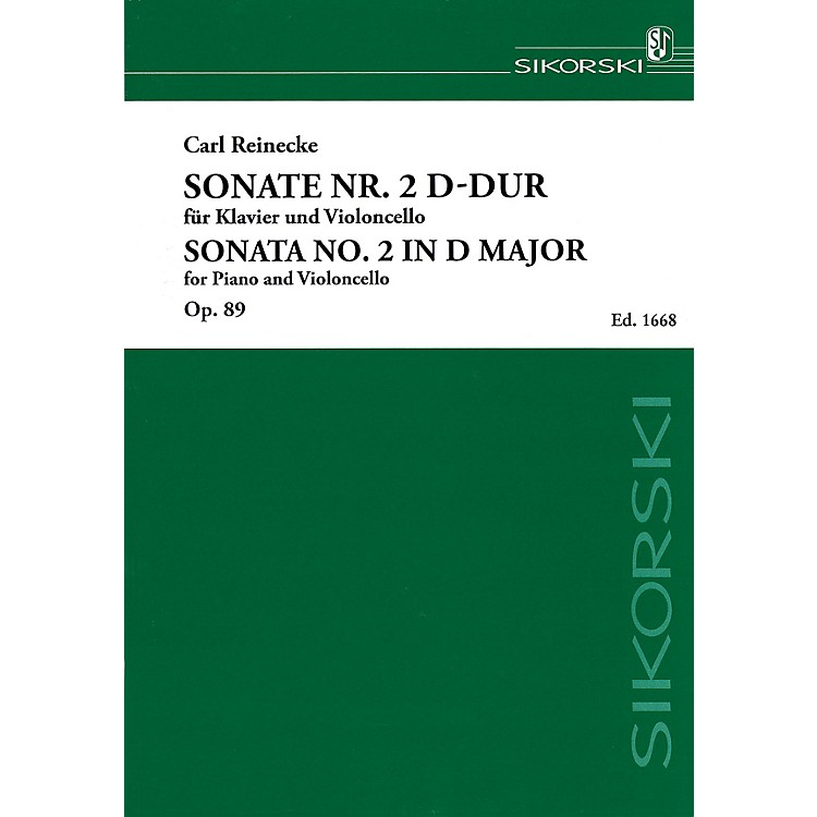 SikorskiSonata No. 2 in D Major, Op. 89 (Piano and Violoncello) String Series Softcover Composed by Carl Reinecke
