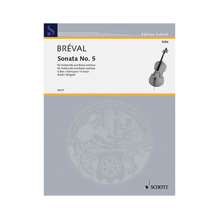 SchottSonata No. 5 in G Major (Cello and Piano) Schott Series