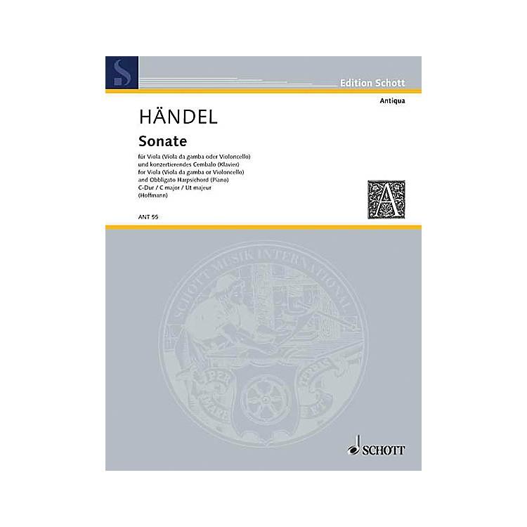 SchottSonata Schott Series Composed by Georg Friedrich Händel Arranged by Adolf Hoffman