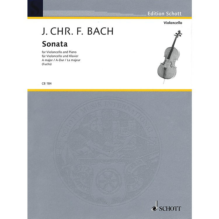 SchottSonata for Cello and Piano in A Major String Series