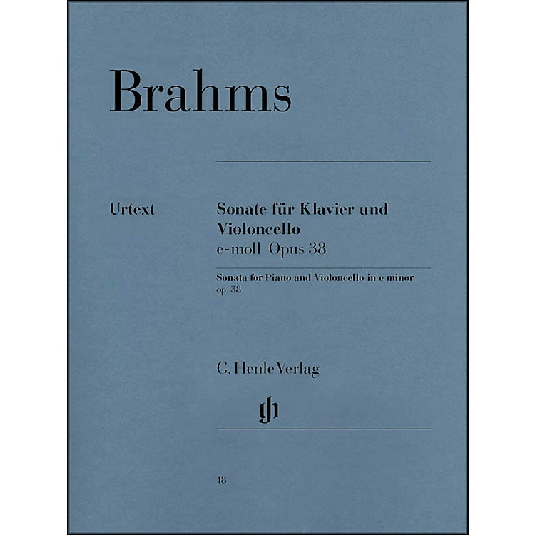 G. Henle VerlagSonata for Piano And Violoncello E Minor Op38 By Brahms