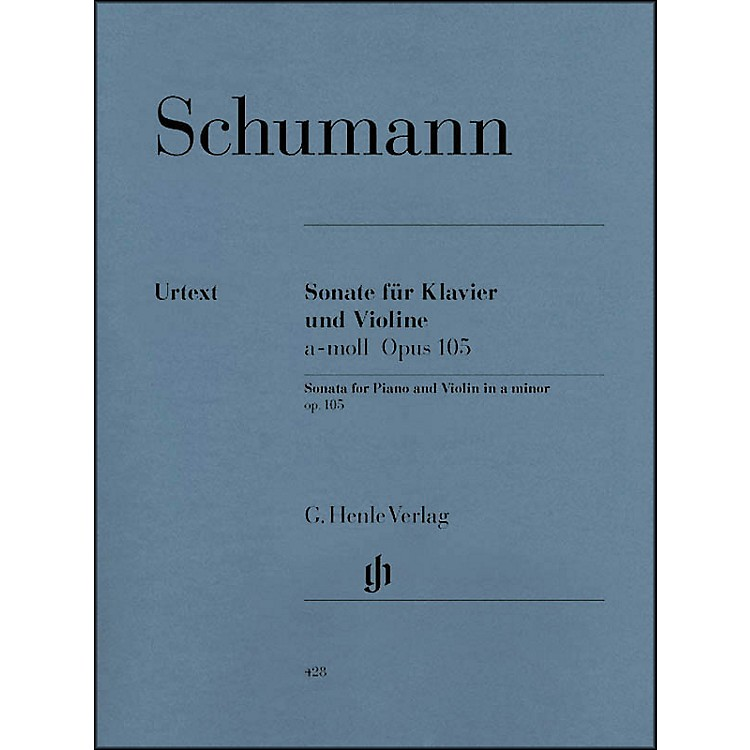 G. Henle VerlagSonata for Piano and Violin in A Minor Op. 105 By Schumann
