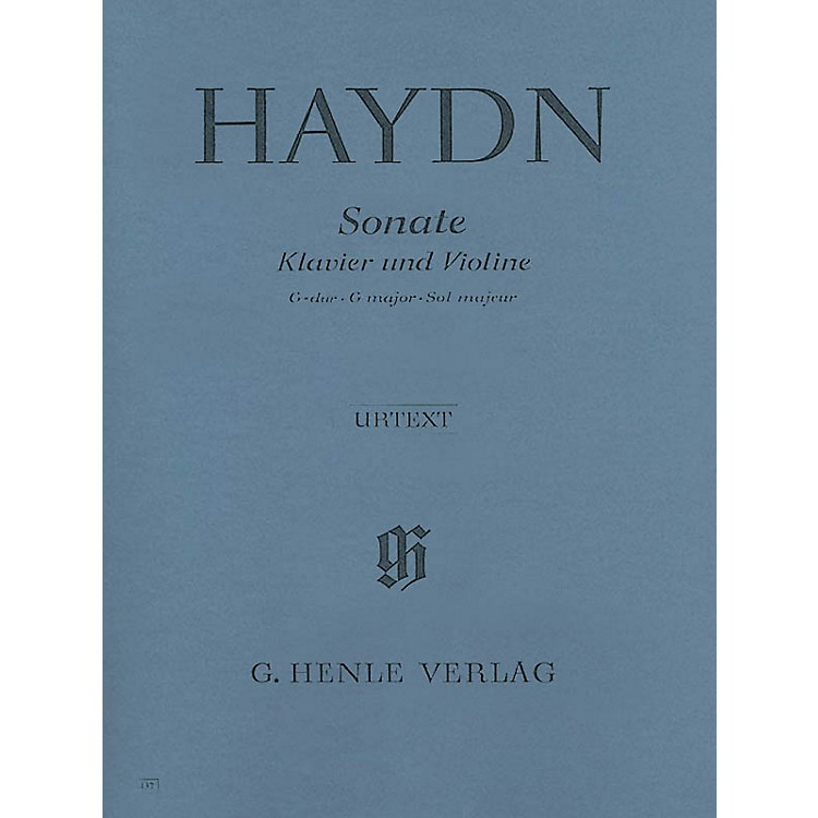G. Henle Verlag Sonata for Piano and Violin in G Major Hob. XV:32 Henle Music Folios Series Softcover