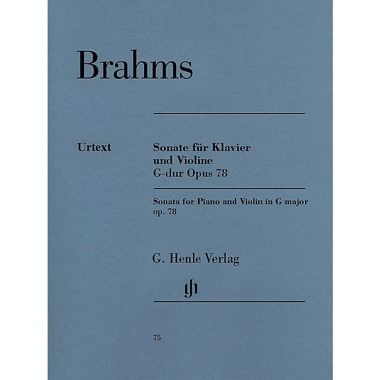 G. Henle Verlag Sonata for Piano and Violin in G Major, Op. 78 Henle Music Folios Series