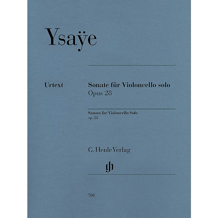 G. Henle Verlag Sonata for Violoncello Solo Op. 28 Henle Music Folios Series Softcover