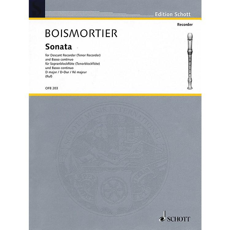 SchottSonata in D Major (For Descant Recorder and Basso Continuo) Schott Series