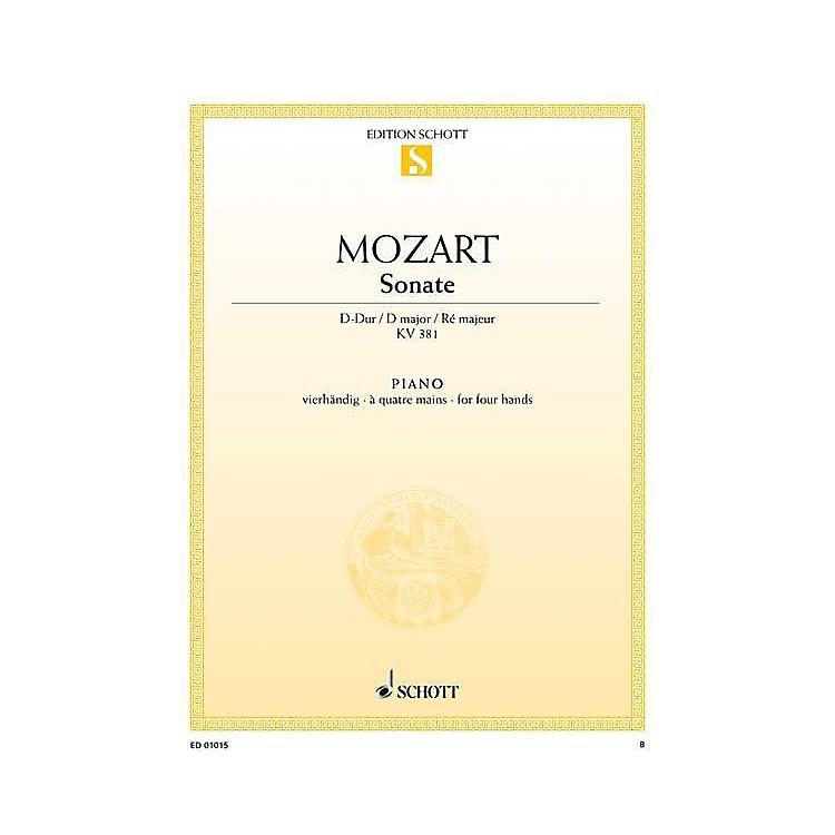 SchottSonata in D Major, KV 381 Schott Series