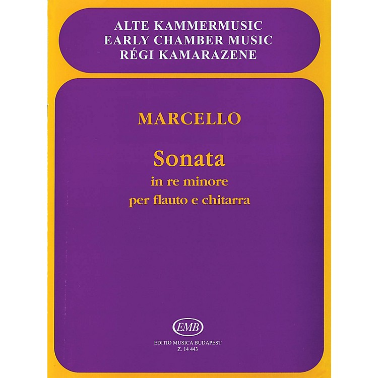 Editio Musica BudapestSonata in D Minor, Op. 2, No. 2 EMB Series Composed by Benedetto Marcello