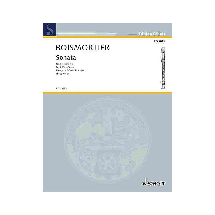SchottSonata in F, Op. 7, No. 1 (Performance Score) Schott Series by Joseph Bodin De Boismortier