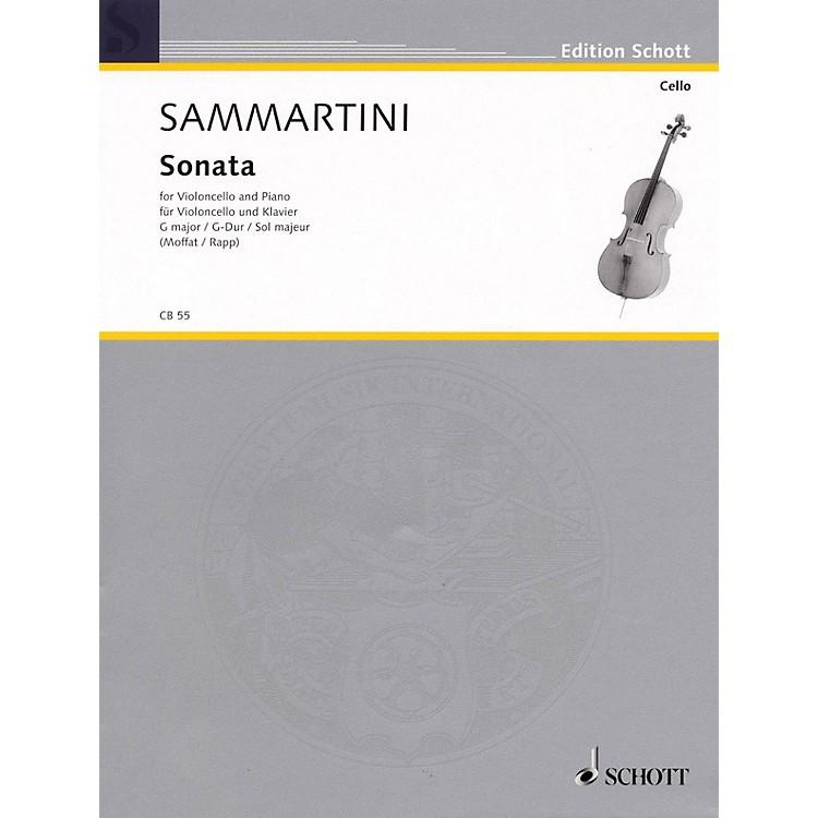 SchottSonata in G Major (Violoncello and Piano) Schott Series