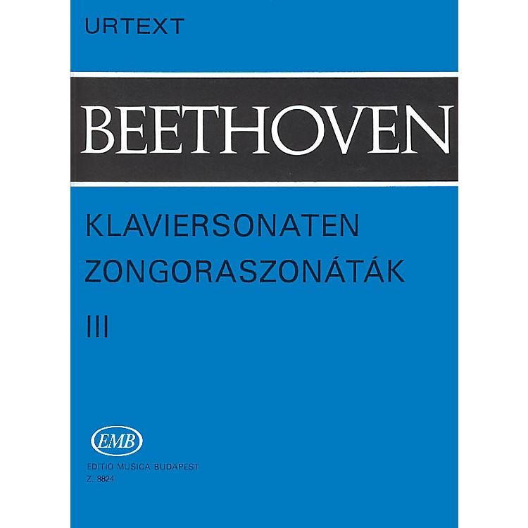 Editio Musica BudapestSonatas - Volume 3 EMB Series Composed by Ludwig van Beethoven