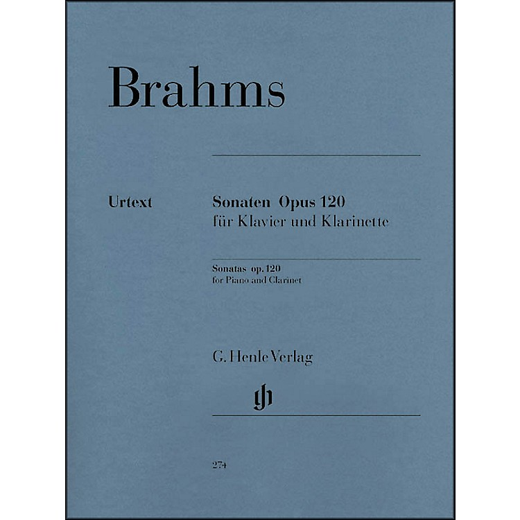 G. Henle VerlagSonatas for Piano And Clarinet (Or Viola) Op. 120, Nos. 1 And 2 By Brahms