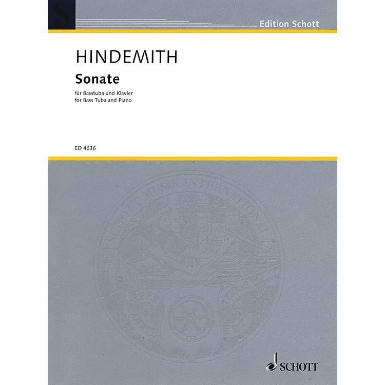 SchottSonate für Basstuba und Klavier (1955) (Sonata for Bass Tuba and Piano) Schott Series