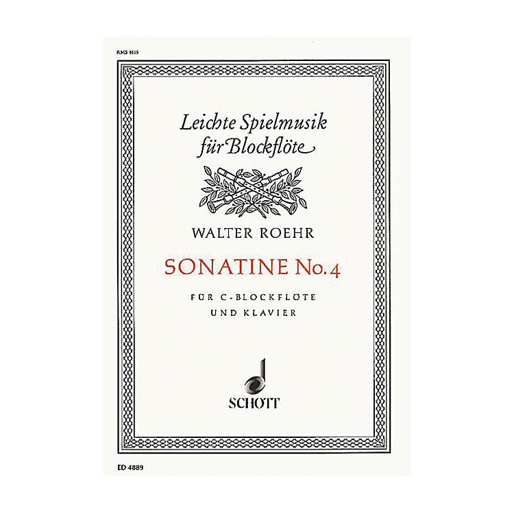 SchottSonatina No. 4 (Recorder and Piano) Schott Series