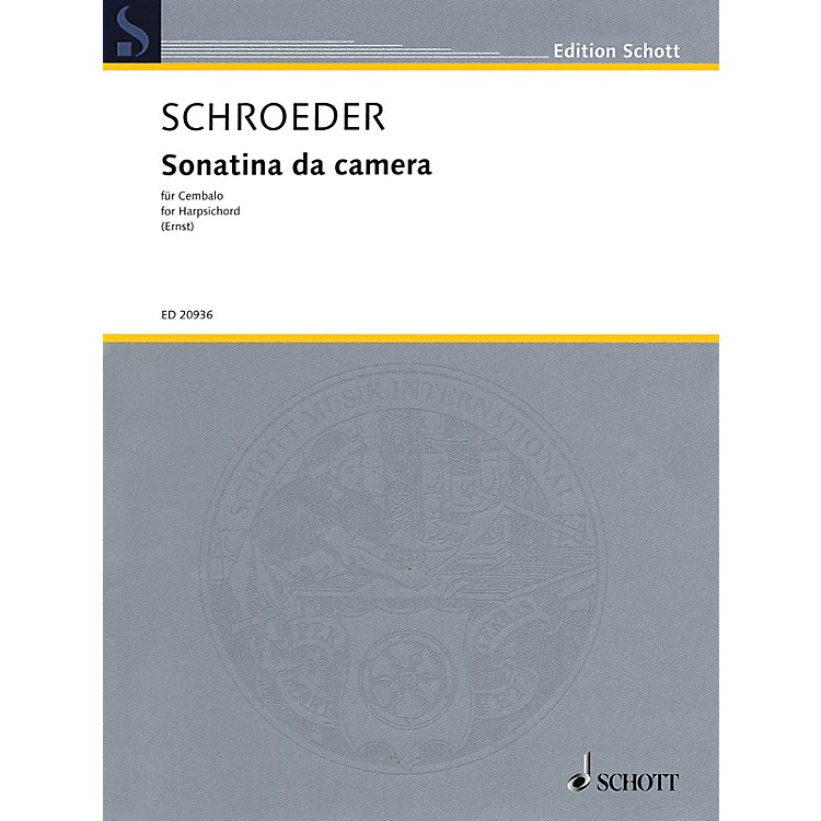 Hal Leonard Sonatina da camera (for Cembalo or Harpsichord) Schott Series Softcover