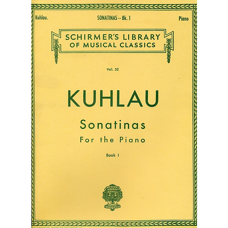 G. SchirmerSonatinas for The Piano Book 1 By Kuhlau