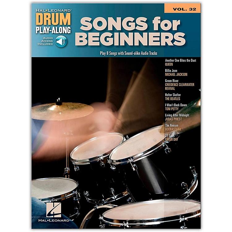 Hal LeonardSongs For Beginners - Drum Play-Along Volume 32 (Book/Online Audio)