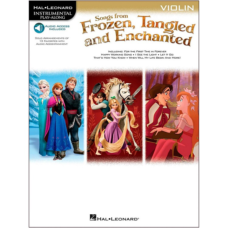 Hal LeonardSongs From Frozen, Tangled And Enchanted For Violin - Instrumental Play-Along Book/Online Audio