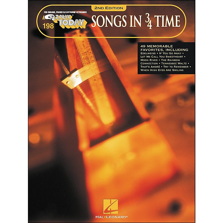 Hal LeonardSongs In 3/4 Time 2nd Edition E-Z Play 198