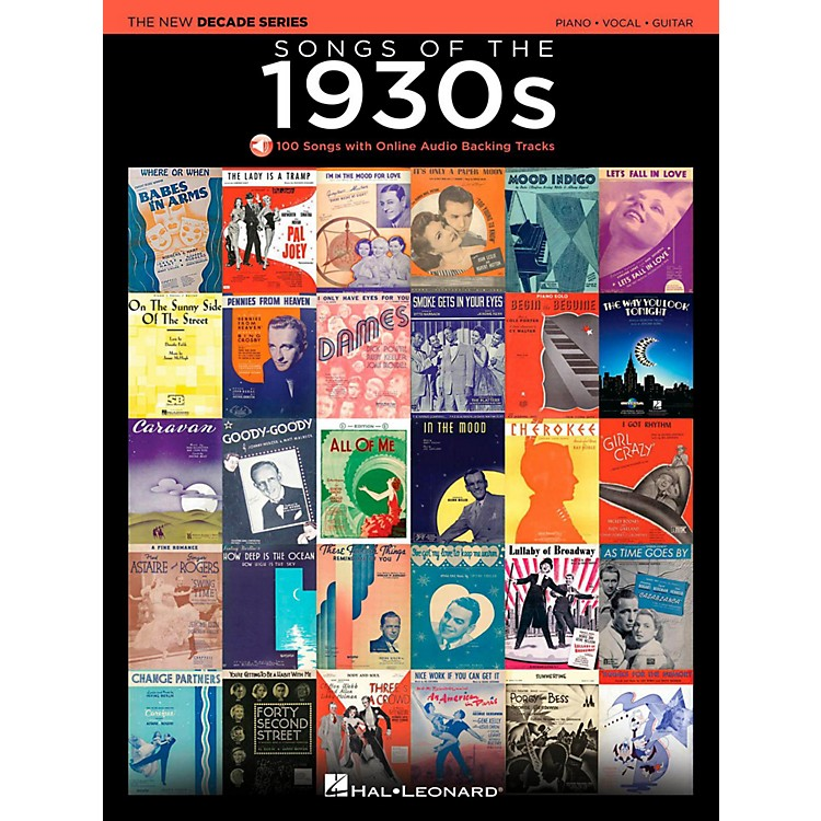 Hal LeonardSongs Of The 1930's - The New Decade Series with Optional Online Play-Along Backing Tracks