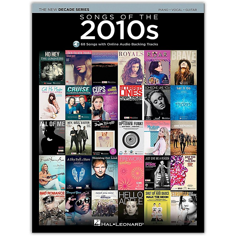 Hal LeonardSongs Of The 2010's - The New Decade Series Book/Online Audio