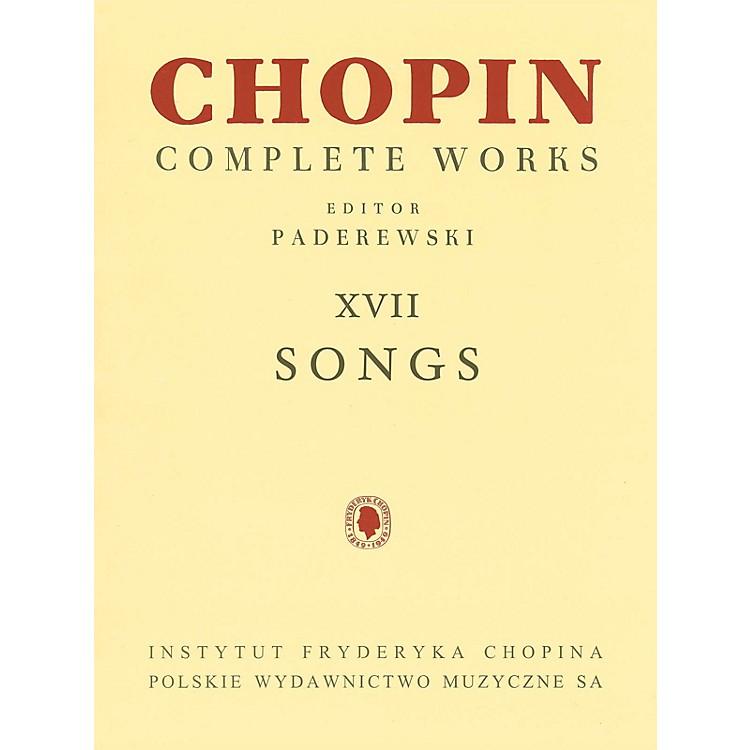 PWMSongs PWM Series  by Frederic Chopin Edited by Ignacy Jan Paderewski