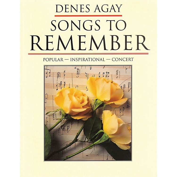 Yorktown Music PressSongs To Remember: Compositions Of Denes Agay Yorktown Series Softcover