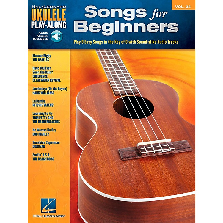 Hal LeonardSongs for Beginners - Ukulele Play-Along Volume 35 Book/Audio Online