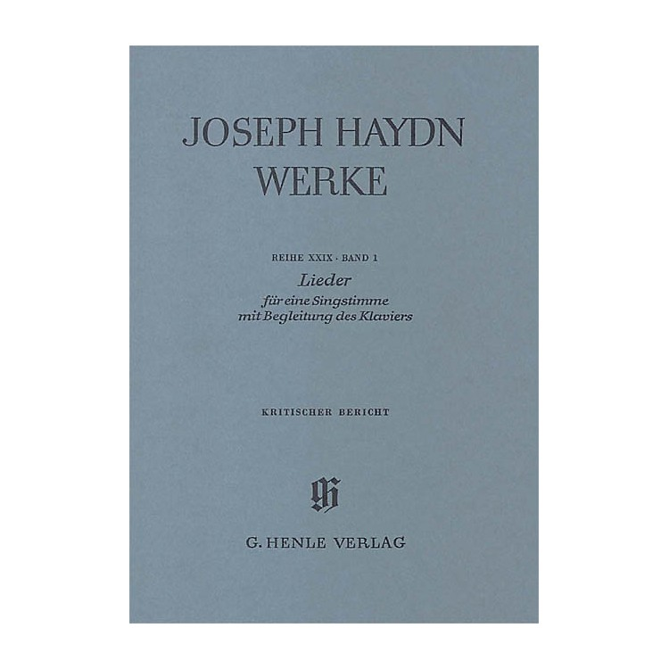 G. Henle VerlagSongs for one voice with accompaniment of a Piano Henle Edition Series Softcover