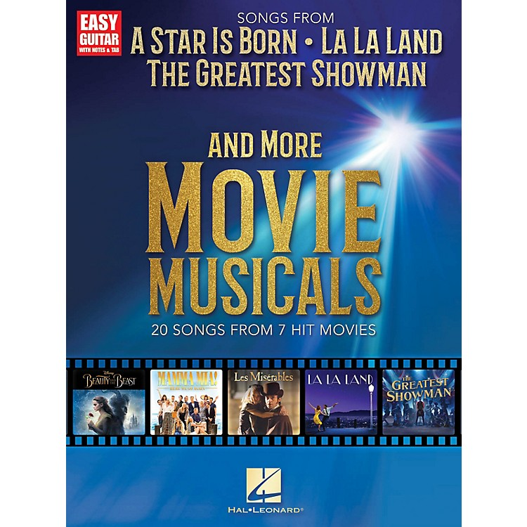 Hal Leonard Songs from A Star Is Born, The Greatest Showman, La La Land and More Movie Musicals Easy Guitar Songbook