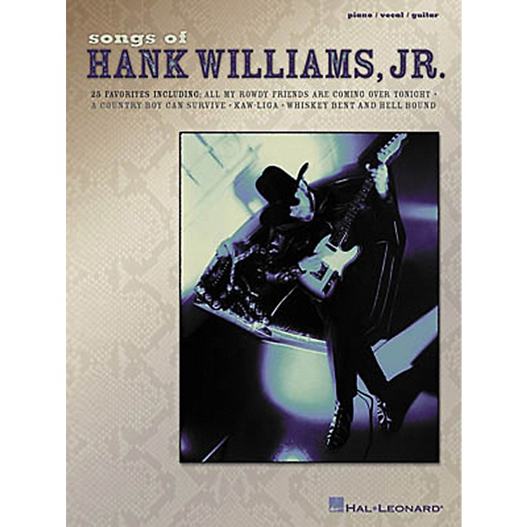 Hal Leonard Songs of Hank Williams Jr Piano, Vocal, Guitar Songbook