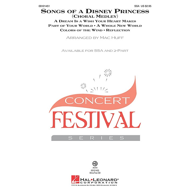 Hal Leonard Songs of a Disney Princess (Choral Medley) 2-Part Arranged by Mac Huff
