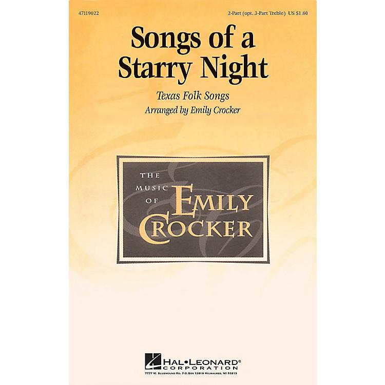 Hal LeonardSongs of a Starry Night (Medley) 2 Part / 3 Part arranged by Emily Crocker