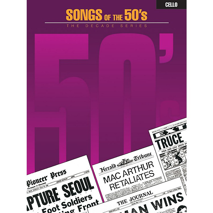 Hal Leonard Songs of the '50s (Cello) Instrumental Folio Series
