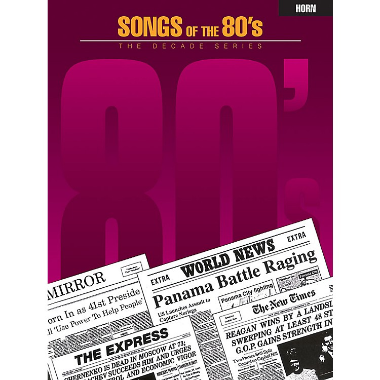 Hal Leonard Songs of the '80s (Horn) Instrumental Folio Series