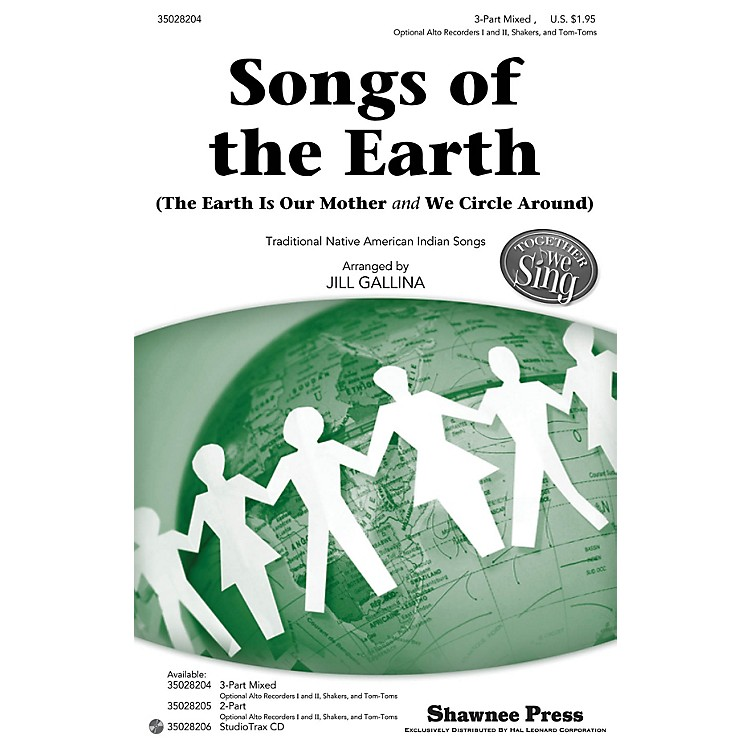 Shawnee PressSongs of the Earth (Together We Sing Series) Studiotrax CD Arranged by Jill Gallina