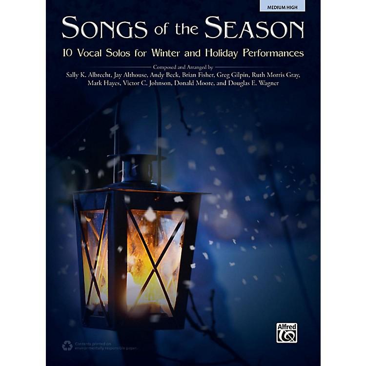 AlfredSongs of the Season Medium High Acc. CD