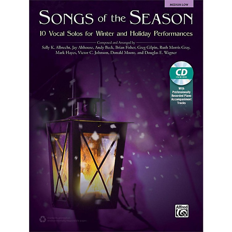 Alfred Songs of the Season Medium Low Book & Acc. CD