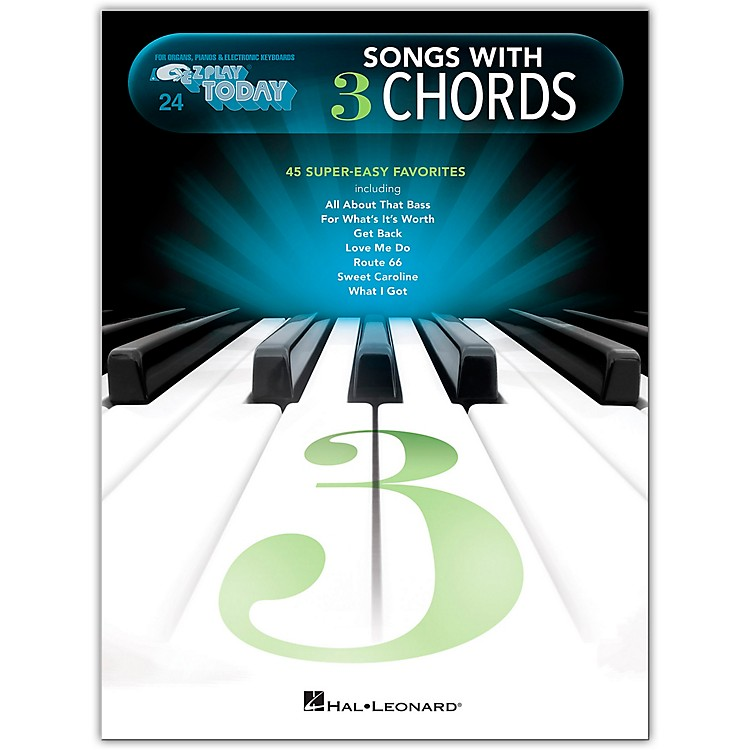 Hal Leonard Songs with 3 Chords - E-Z Play Today #24