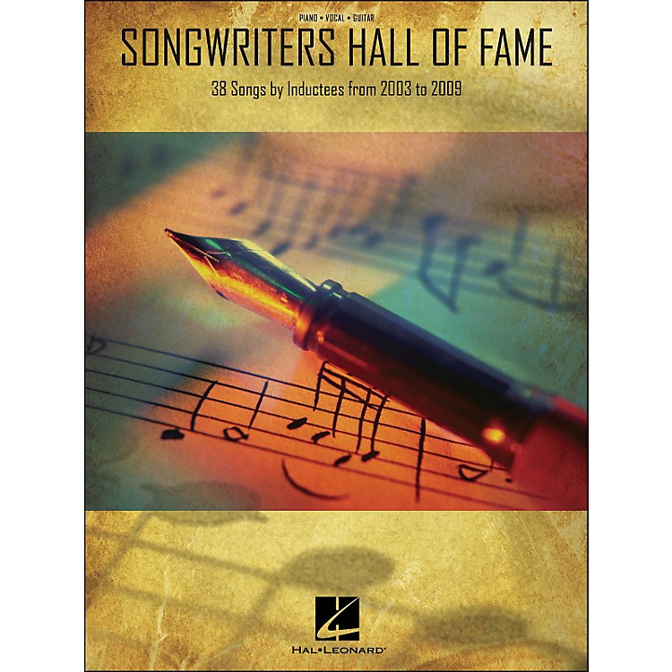 Hal LeonardSongwriters Hall Of Fame 2003-2009 arranged for piano, vocal, and guitar (P/V/G)