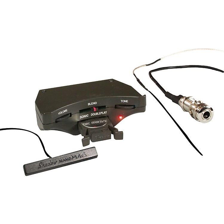 ShadowSonic DoublePlay Acoustic Guitar Soundhole Preamp with Nanomag Soundhole and NanoFlex Undersaddle Pickup