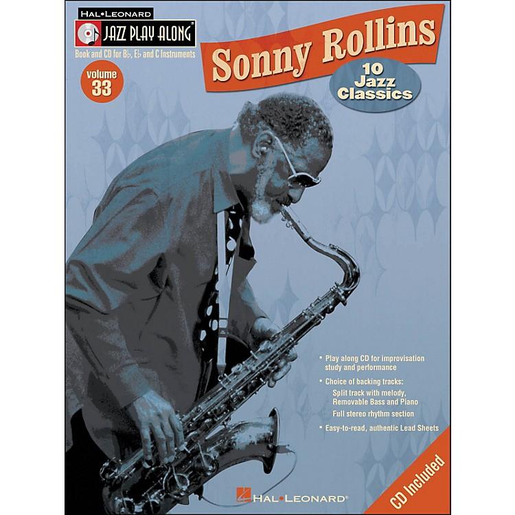 Hal LeonardSonny Rollins Vol 33 Book/CD 10 Jazz Classics Jazz Play Along