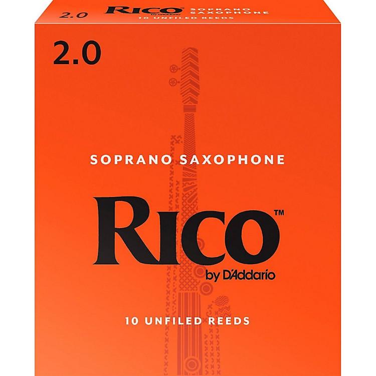 RicoSoprano Saxophone Reeds, Box of 10Strength 2