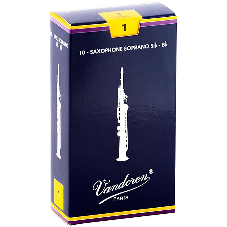 Vandoren Soprano Saxophone Reeds Strength 1 Box of 10