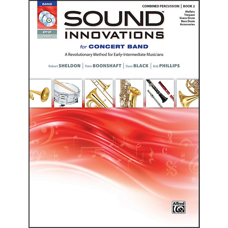 AlfredSound Innovations for Concert Band Book 2 Combined Percussion Book CD/DVD